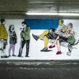 Vicces és színes festményekkel dekorálták ki az aluljárót a kelenföldi vasútállomáson