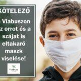 Kötelező maszk használat a ViaBuszon