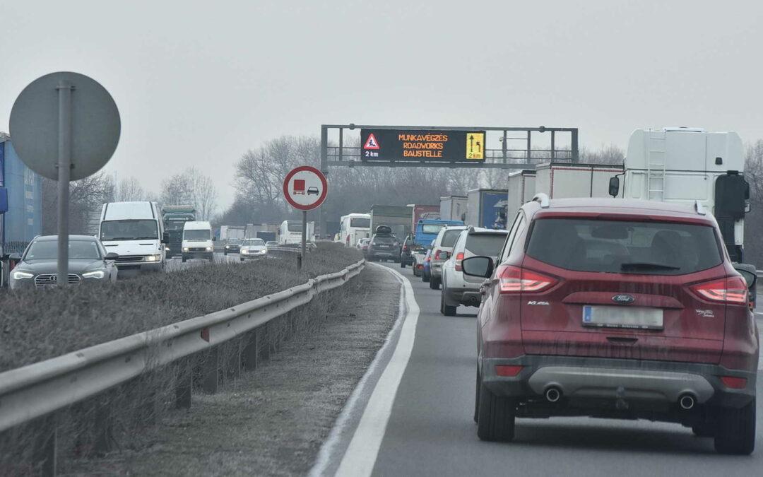 ITM: a forgalom folyamatos fenntartása mellett újult meg az M1 Budapest és Tatabánya között