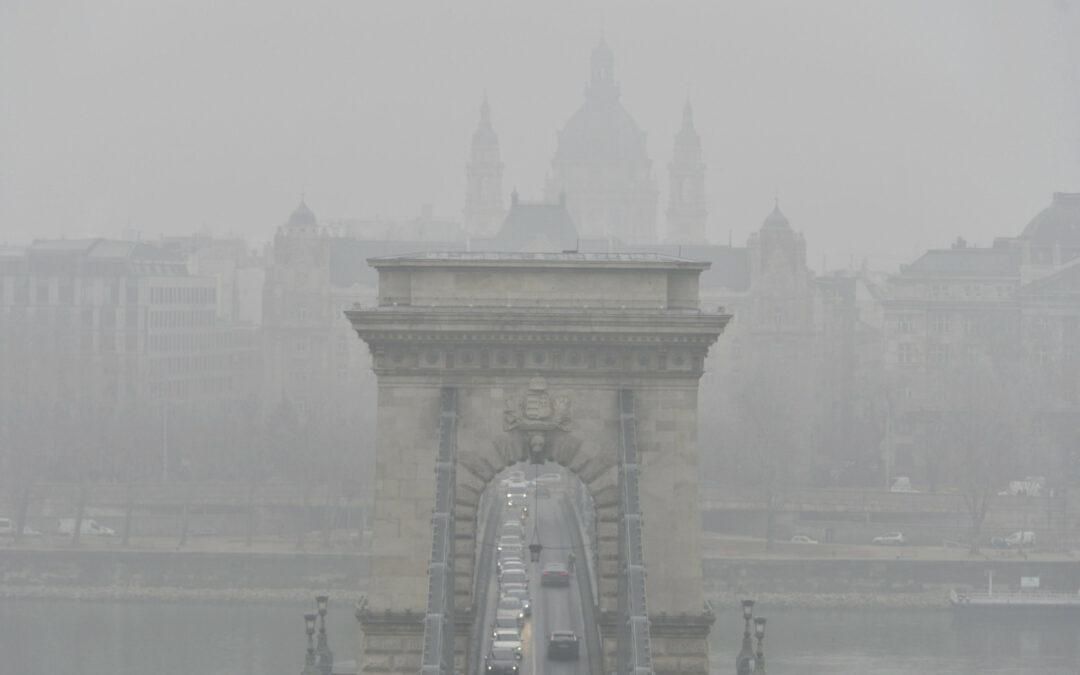 Országszerte rossz a levegő minősége – Budapesten és Várpalotán egészségtelen a levegő
