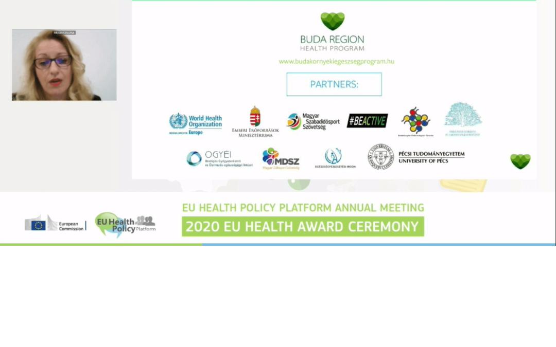 lll. helyezett a Budai Egészségprogram az egészségfejlesztők Oscárján