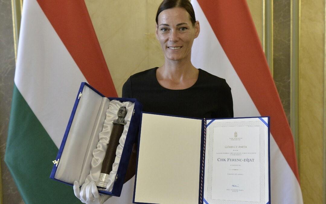 Magyar Sport Napja: Csík Ferenc-díjban részesült Görbicz Anita