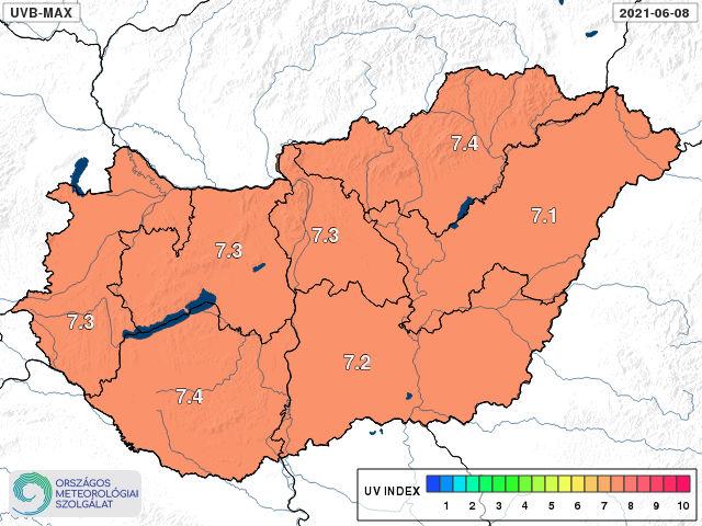 UV-figyelmeztetést adott ki a meteorológiai szolgálat a mai napra