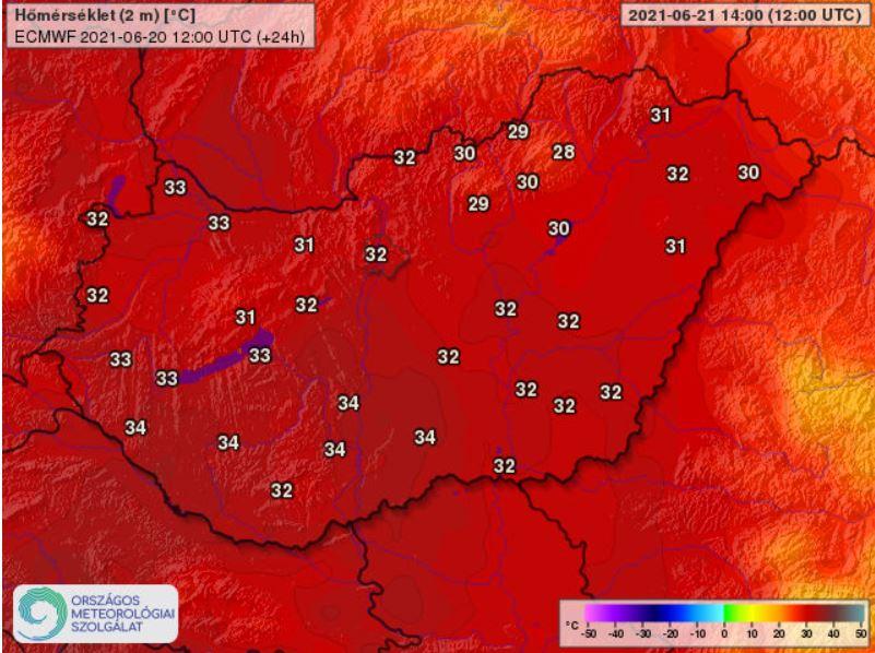 Országszerte első- és másodfokú figyelmeztetéseket adott ki a meteorológiai szolgálat